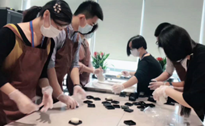 Warm Mid-Autumn Festival – Staff Making Moon Cakes